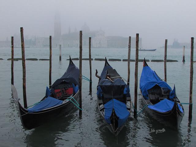 Venecia fotos tópico con niebla