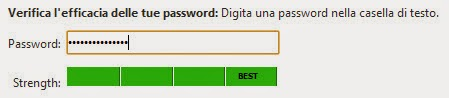 Risultato password Checker