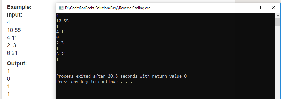 "Geeksforgeeks Solution For "" Reverse Coding """