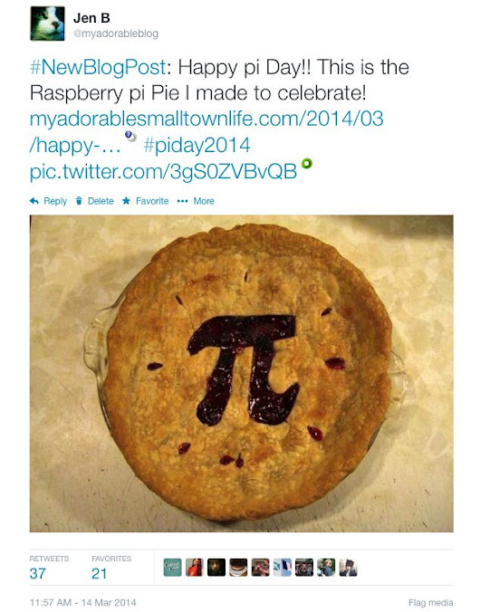 Twitter and pi Day ~ My Adorable Small Town Life