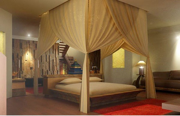 Decorating Romantic Master Bedroom With Interior Lights ...