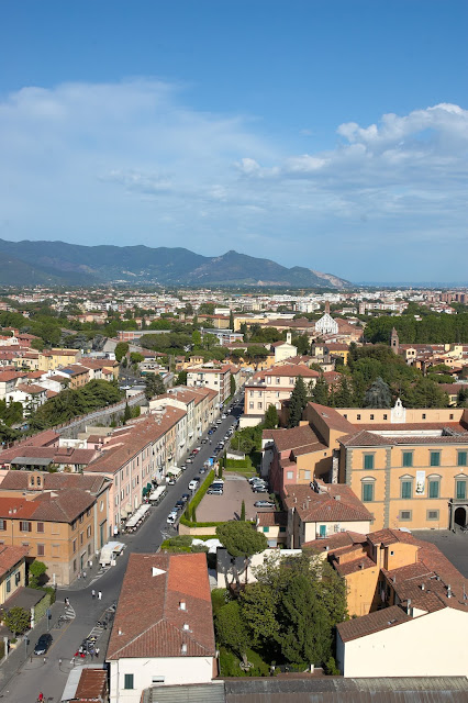 widok na miasto, panorama Piza i okolice
