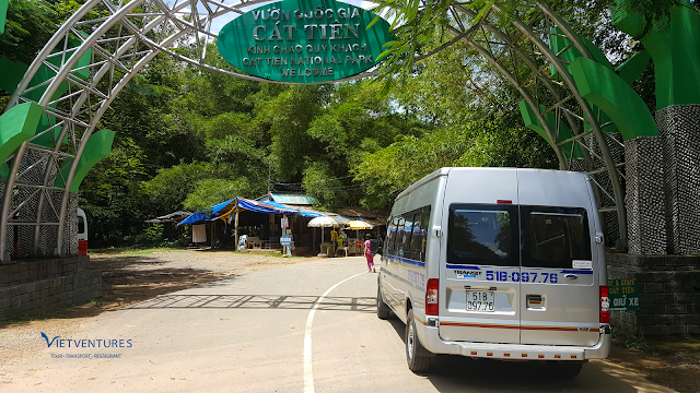 Cổng vào rừng Nam Cát Tiên