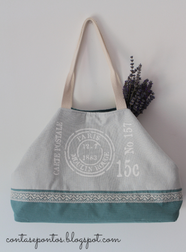 Bag - paint on fabric - handmade