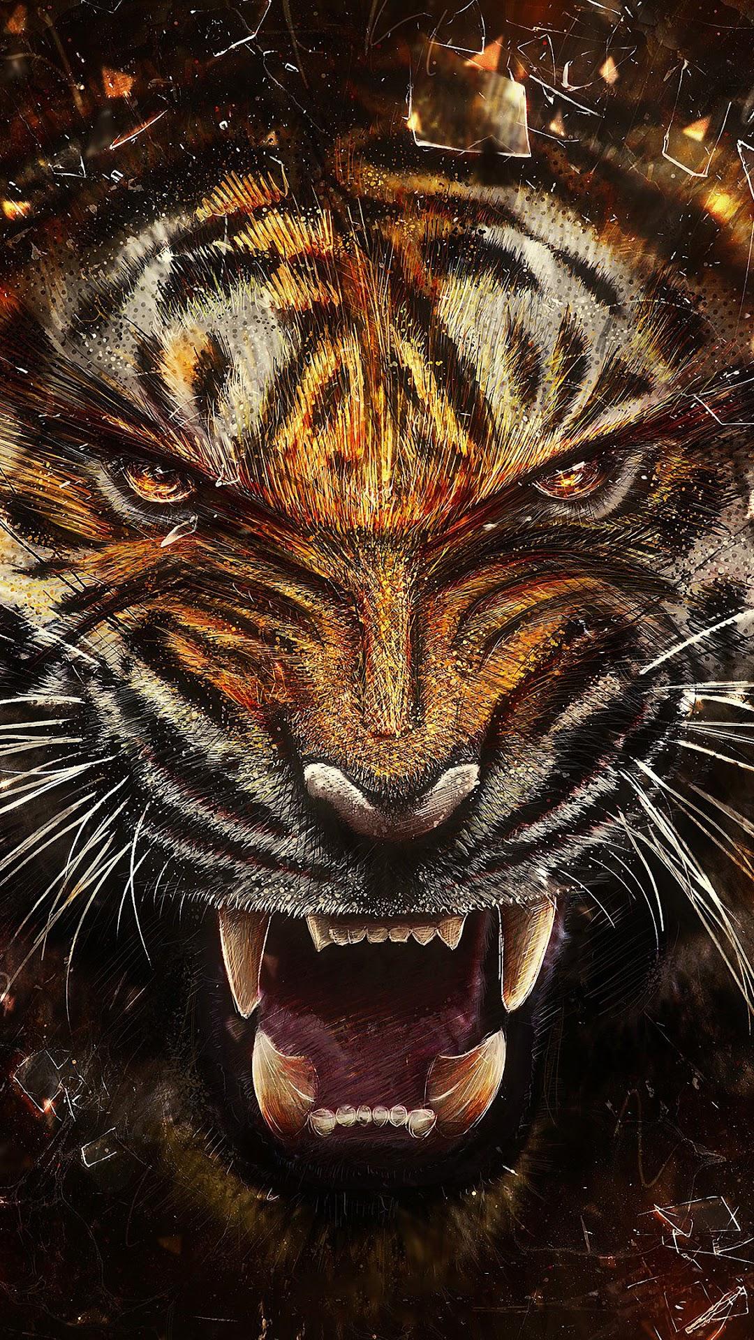 Tiger Growl 4k Wallpaper 24