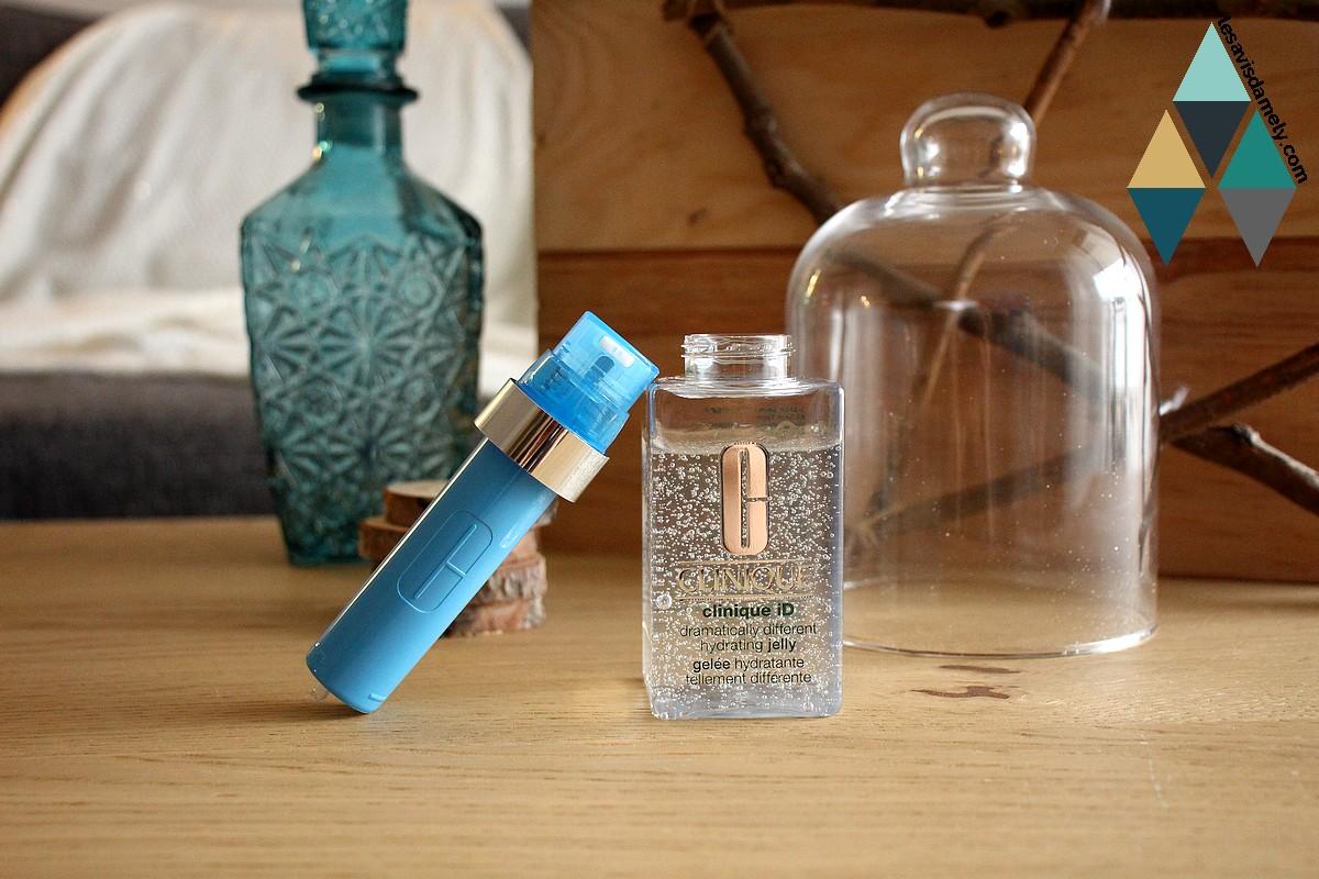 revue clinique ID gelée hydratante et cartouche actif concentré pores et grain de peau irrégulier