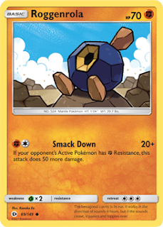 Roggenrola Sun and Moon Pokemon Card