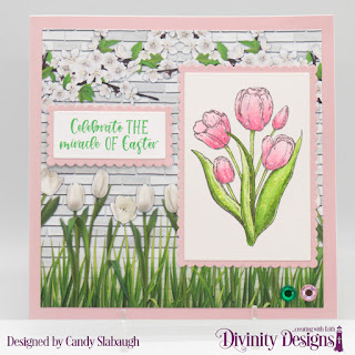 Stamp Set: Glorious Easter  Custom Dies:  Scalloped Rectangles, Rectangles   Paper Collection: Spring Flowers 2019