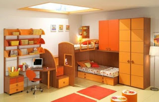 cuarto color naranja niño