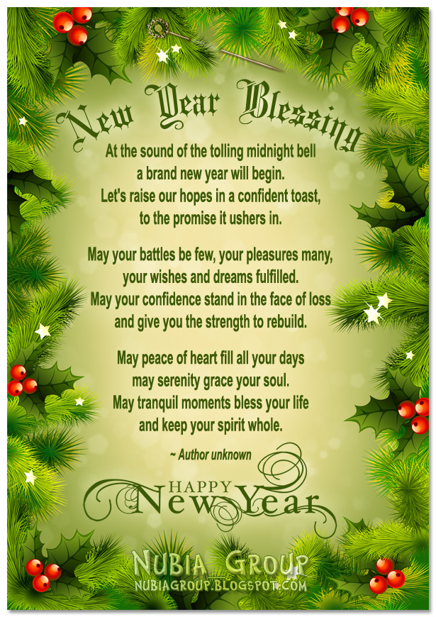 * Nubia_group Inspiration *: New Year Blessing