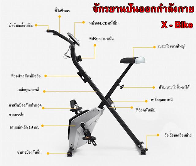 จักรยานออกกำลังกาย ระบบแม่เหล็ก X-BIKE