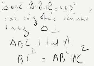 Các tính độ dài các cạnh và tỉ số lượng giác của tam giác vuông