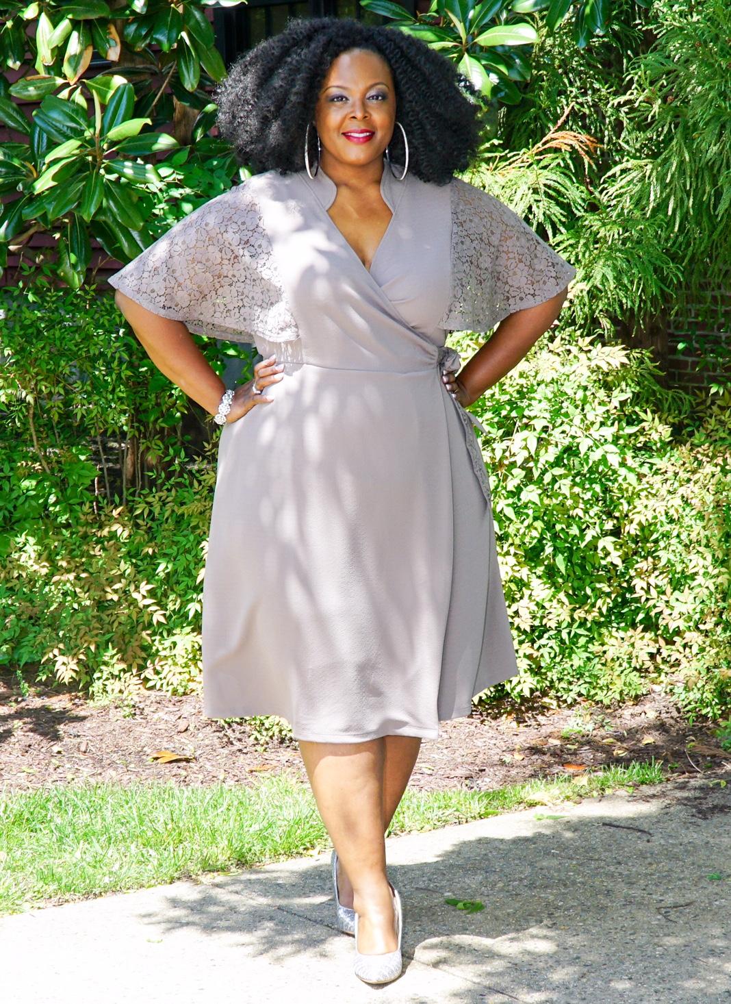 Big Bella Donna Kiyonna Charm Wrap Dress