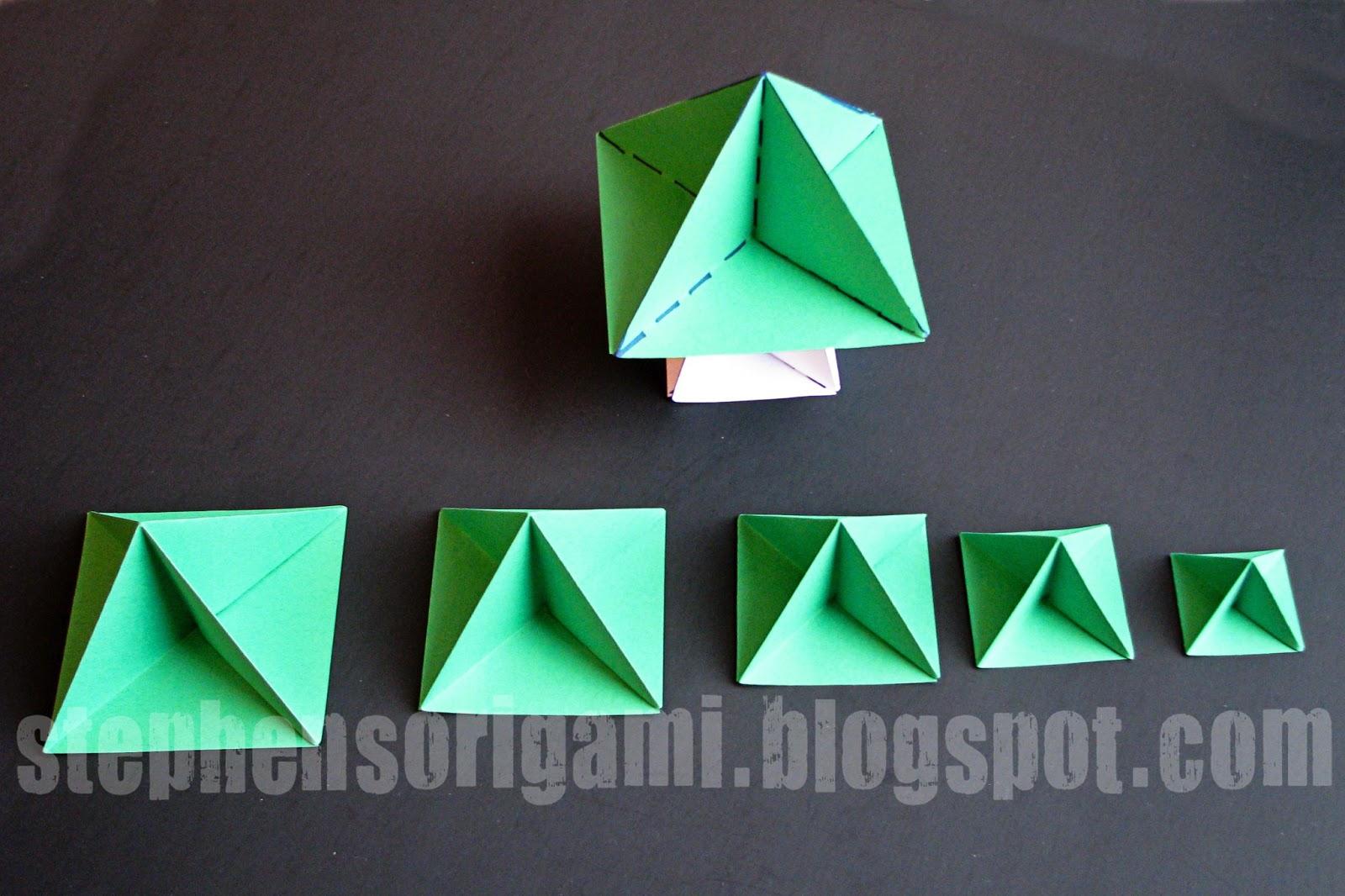 Stephen's Origami: Origami Christmas Tree Tutorial - photo#49