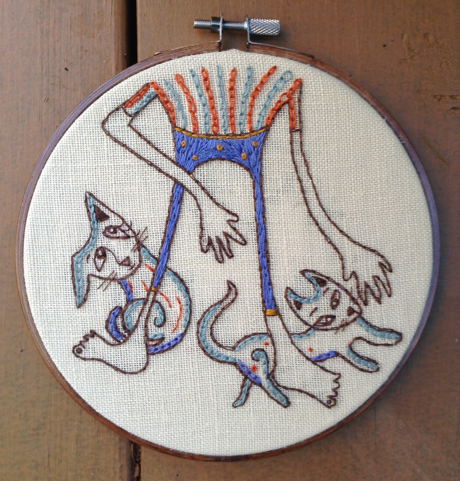 Christine brallier art new embroidery designs cats