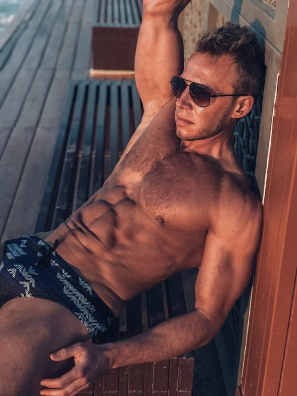 Andrey Pavlov Shirtless by Edward Xue