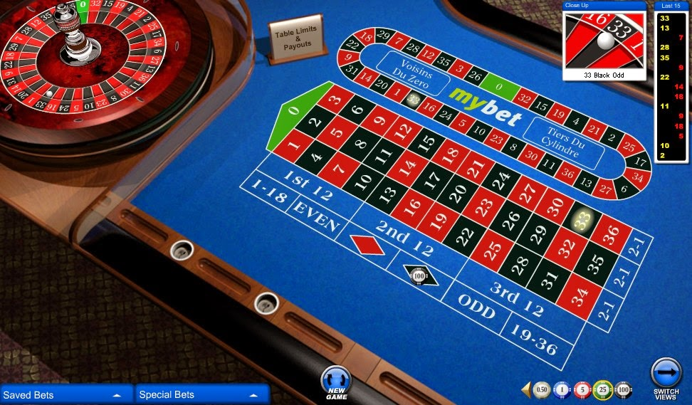 Mybet Casino Roulette Screen