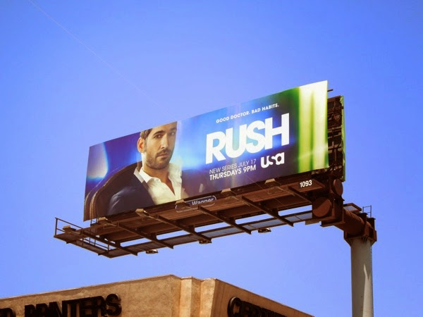 Rush series premiere billboard