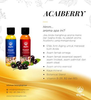 Sagha oil mengandung acaiberry