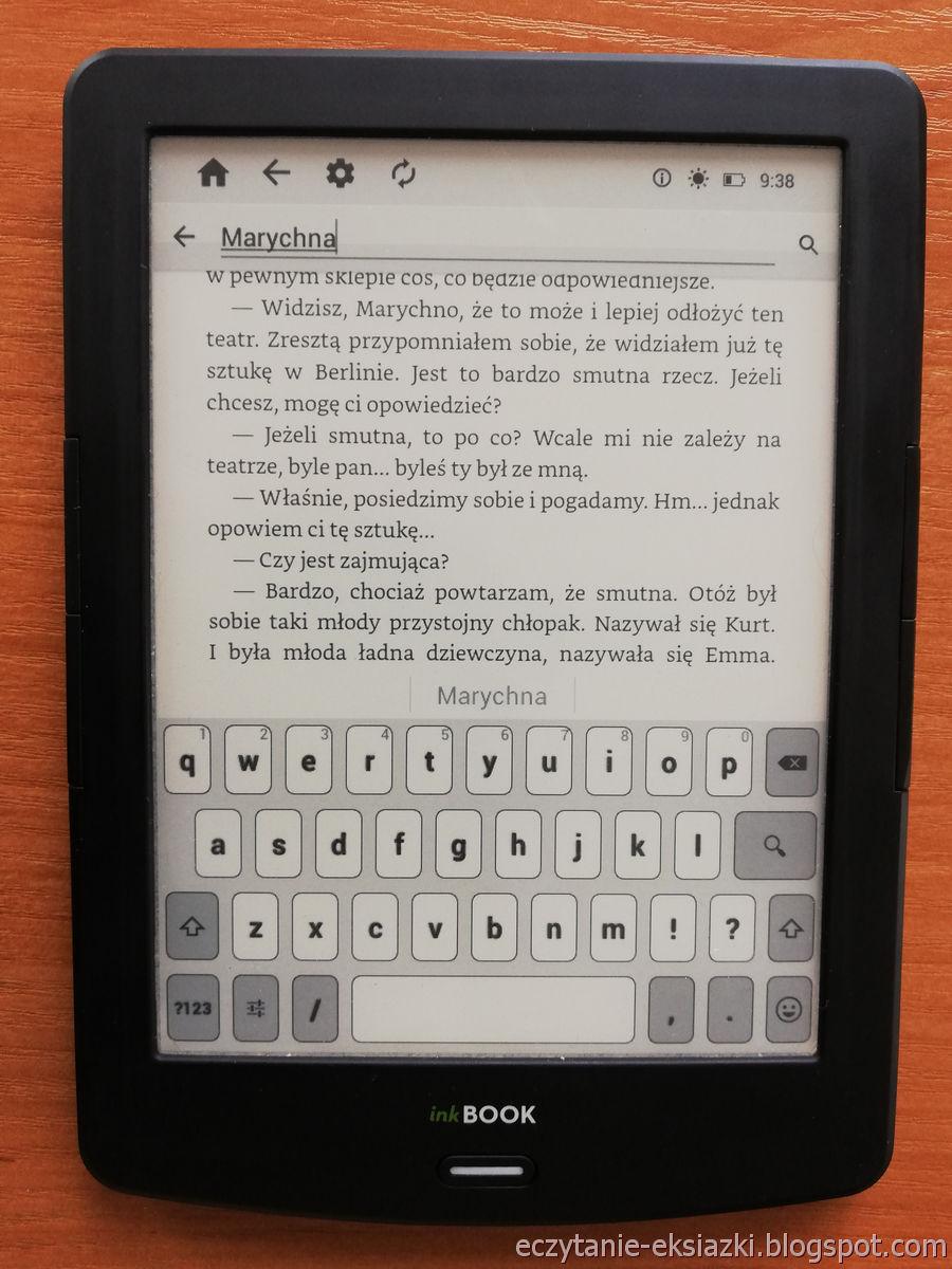 PocketBook Reader InkBOOK LUMOS – wpisywanie wyszukiwanej frazy