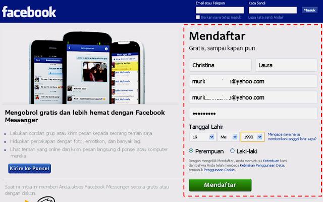 Tutorial Cara Membuat Akun Facebook