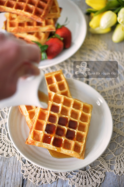 low fat yogurt crispy waffles