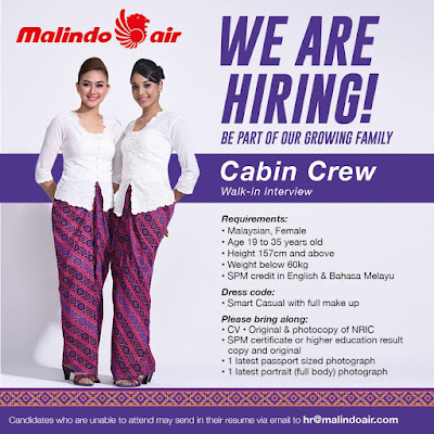 Malindo Air Female Cabin Crew