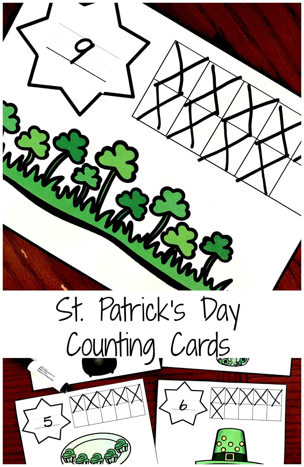Free St Patricks Day Counting Cards
