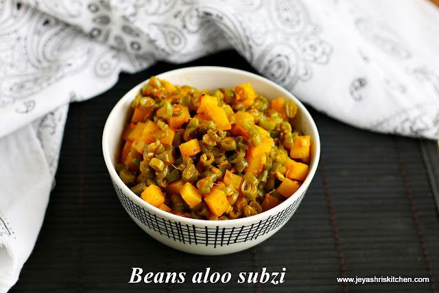 Beans aloo subzi