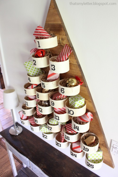diy advent tree countdown calendar