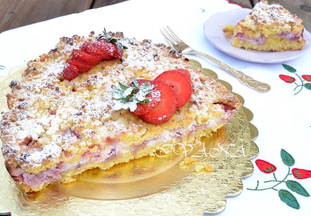 Маслен пай sbriciolata с ягоди и рикота - Sbriciolata ricotta e fragole