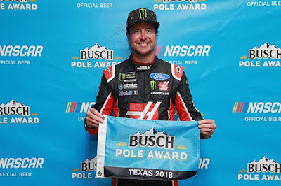 Stewart-Haas Racing's Kurt Busch took the pole position in the #MENCS. #NASCAR