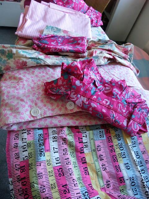 Rag Quilt Pillow Cushion by Karen Vallerius