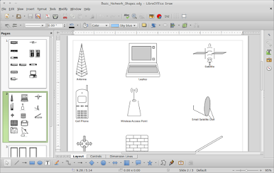 Cara MEnggambar Basic Network Diagram di LibreOffice Draw