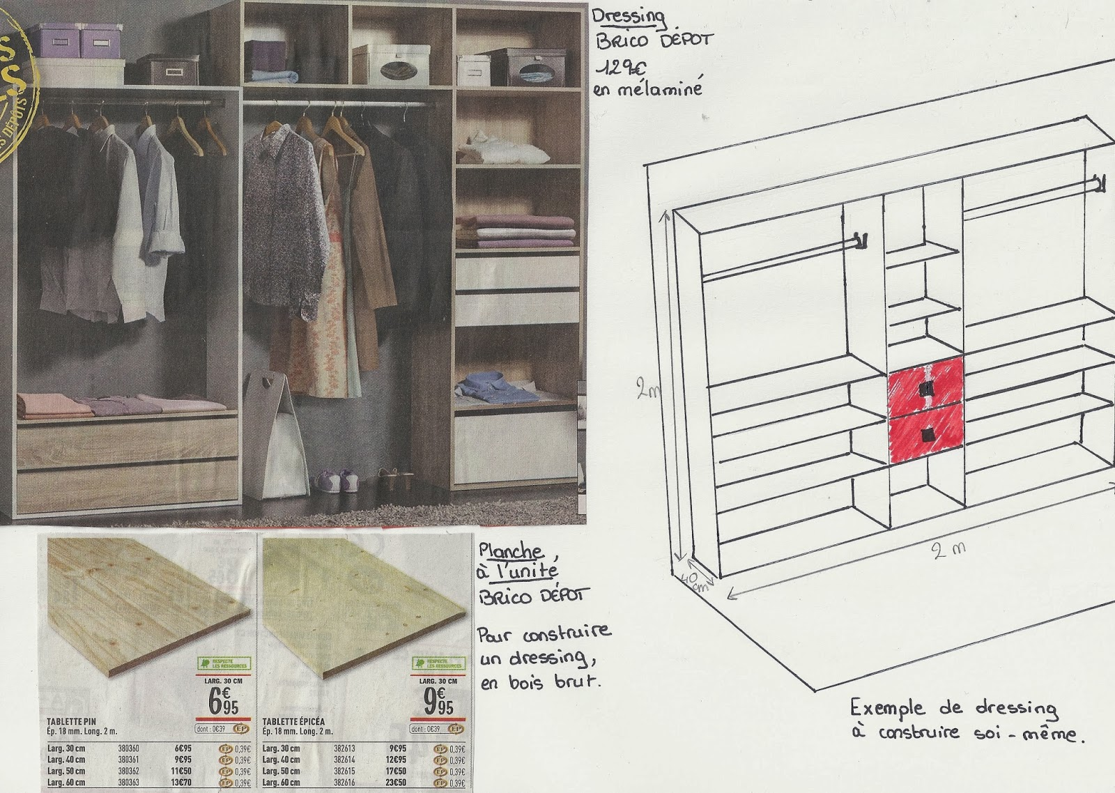 ma d coration d 39 int rieure dressing pas cher. Black Bedroom Furniture Sets. Home Design Ideas