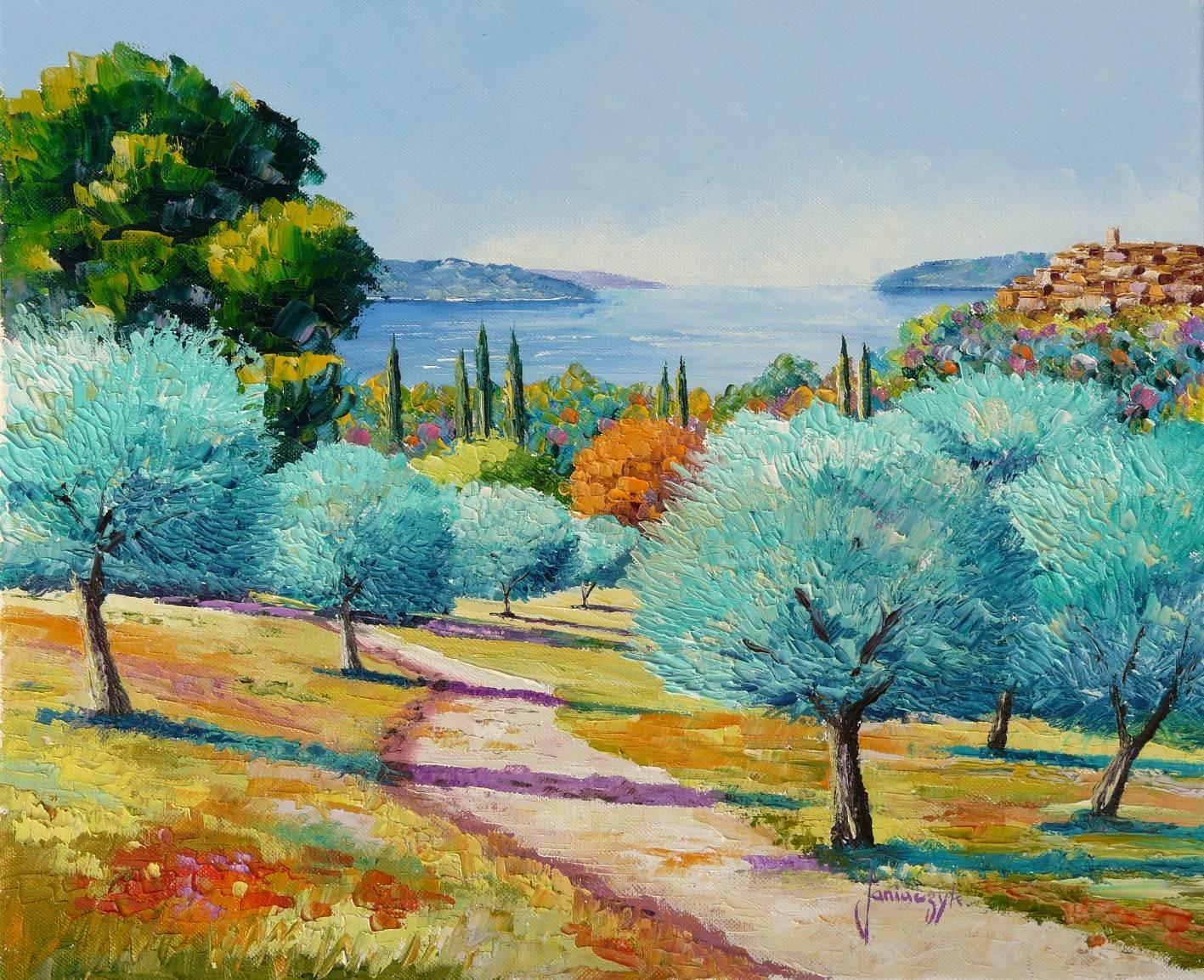 Azeitonas do Mediterrâneo - Cores alegres e vibrantes nas paisagens de Jean-Marc