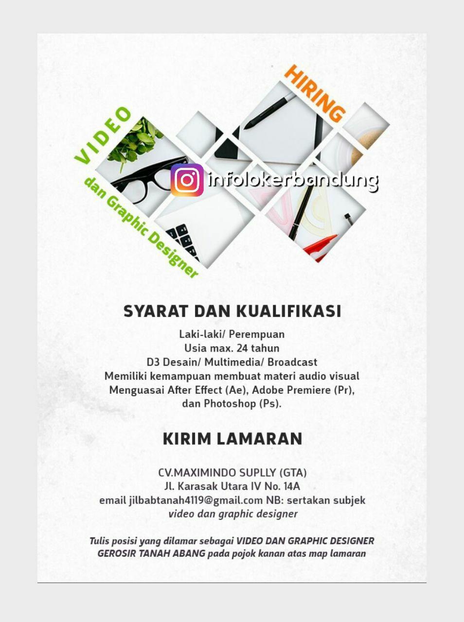 Lowongan Kerja Video Graphic Designer & Copy Writer Bandung Januari 2018
