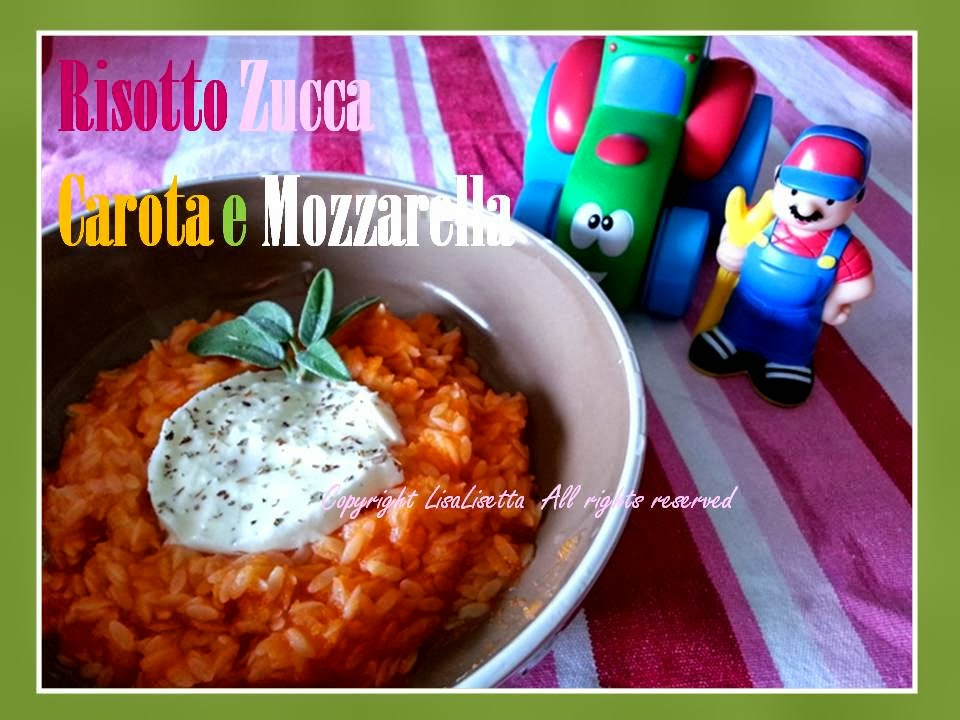 Risotto alla Carota e alla Zucca con Mozzarella