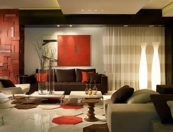 coklat merupakan warna yang berarti bisnis Desain Ruang Tamu Cantik Warna Coklat