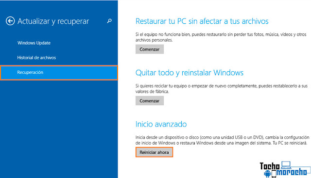 Deshabilitar controladores firmados Windows 10 / 8.1 / 8