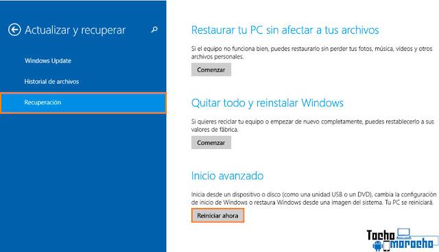 Deshabilitar controladores firmados Windows 10 / 8.1 / 8