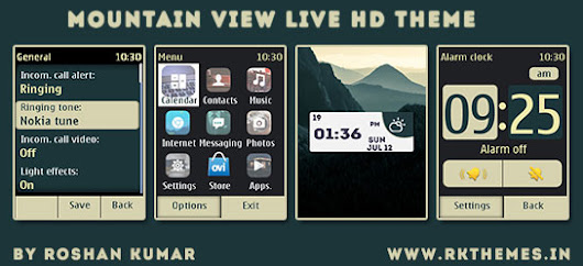 Mountain View Live HD Theme For Asha 202,203,X3-02,300,303,C2-02,C2-03,C3-01 Touch and Type Devices ~ Rkthemes | Download Free Themes For  Nokia and Android Phones