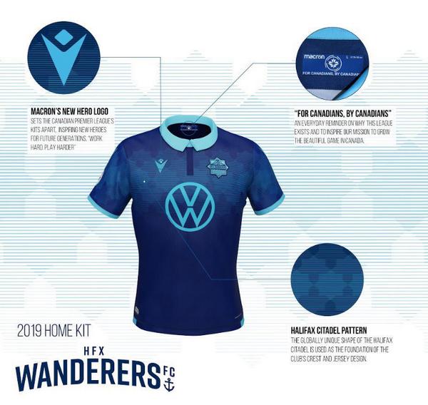 0777d8c05 Questa è la nuova maglie calcio poco prezzo HFX Wanderers FC 2019 Home di  Macron.