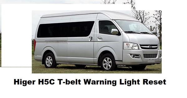 Higer H5C T-belt Warning Light Reset