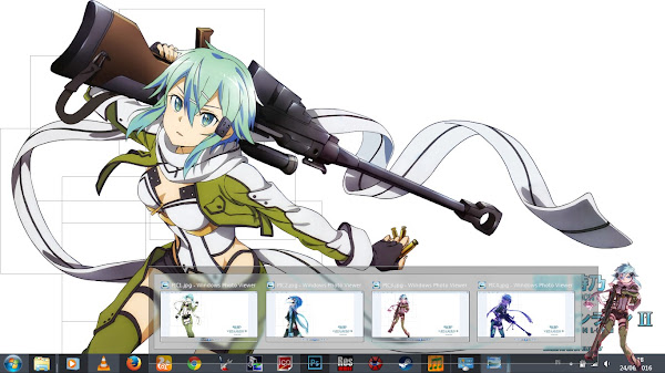[Theme Win 7] Sword Art Online II – Asada Sinon by Eldiaz7 4