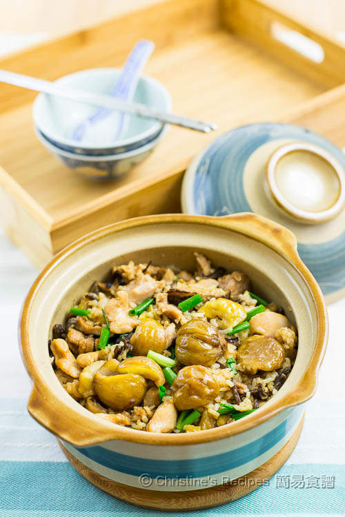 Claypot Rice with Chicken and Chestnuts