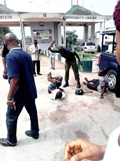 BUSTED: Fake Beggars Pretending To Be Blind Arrested In IMSU 1