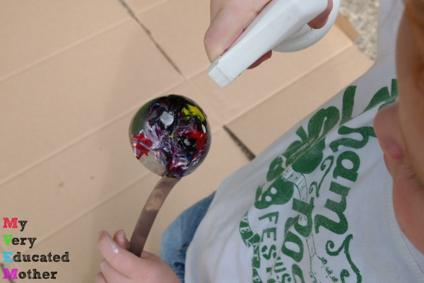 Kids can explore their creative side at a free style outdoor paint station!