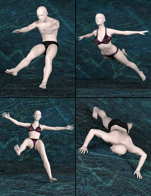 Explosive Poses for Genesis 2 and Genesis 3 Male and Female