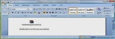Trojan Menyamar sebagai Removal Tool virus, HeartBleed di dalam email